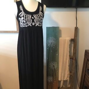 PM maxi dress with flower detail
